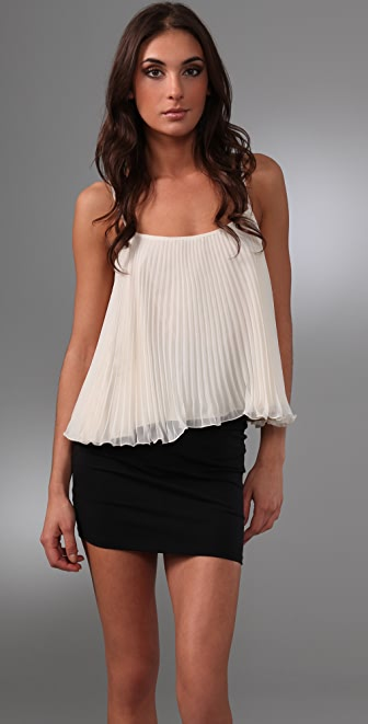 Torn by Ronny Kobo Nadya Pleated Top