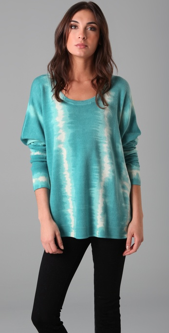 Torn by Ronny Kobo Kelly Tie Dye Stripe Sweater