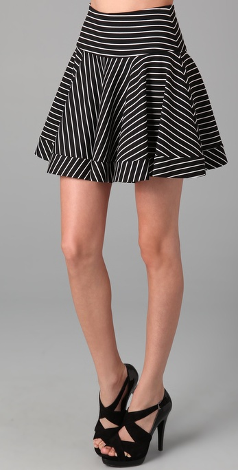 Torn by Ronny Kobo Ally Striped Skirt
