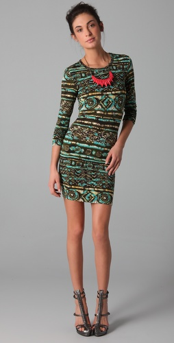 Torn by Ronny Kobo Zoe Simba Long Sleeve Dress