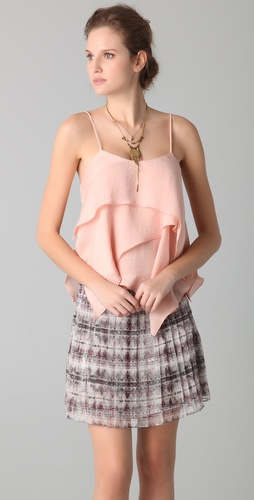 Torn by Ronny Kobo Elsa Tiered Asymmetrical Top