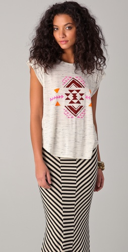 Torn by Ronny Kobo Madison Geometric Cutout Tee