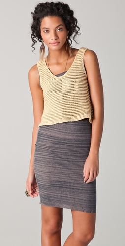 Torn by Ronny Kobo Blondie Metallic Knit Tank
