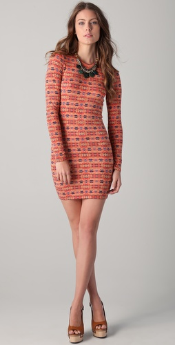 Torn by Ronny Kobo Zoe Small Azi Long Sleeve Dress