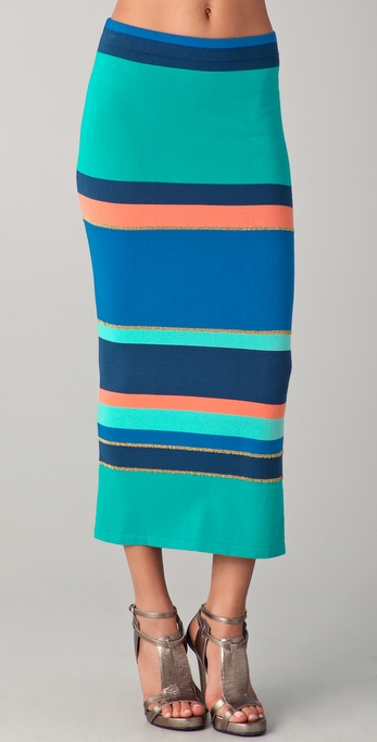 Torn by Ronny Kobo Ronny Striped Sweater Skirt