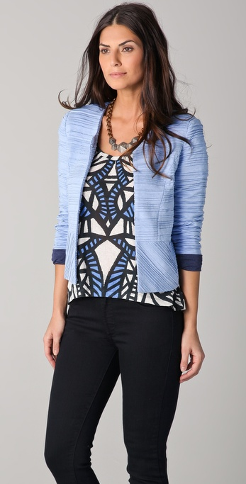 Torn by Ronny Kobo Ruthie Pleated Jacket
