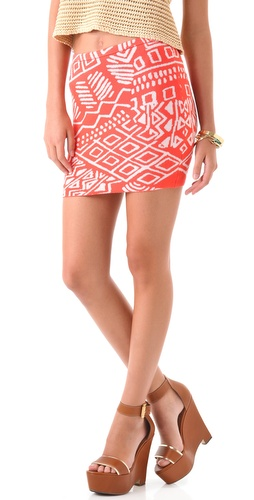 Torn by Ronny Kobo Astrid Print Miniskirt