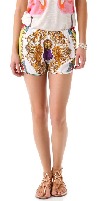 Torn by Ronny Kobo Margie Scarf Shorts