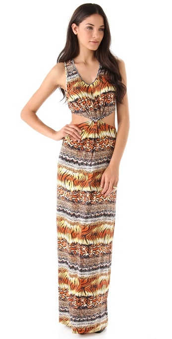 Torn by Ronny Kobo Blair Exotic Print Knot Dress