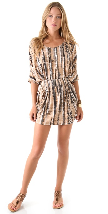 Torn by Ronny Kobo Odette Desert Trip Belted Dress