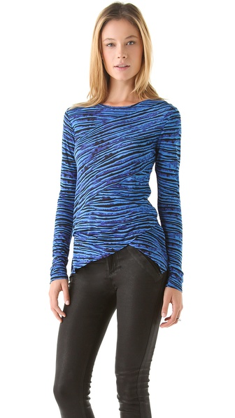Torn by Ronny Kobo Camille Striped Tee