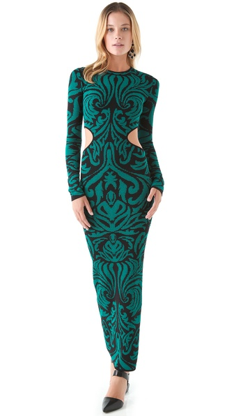 Torn by Ronny Kobo Ellen Baroque Maxi Dress