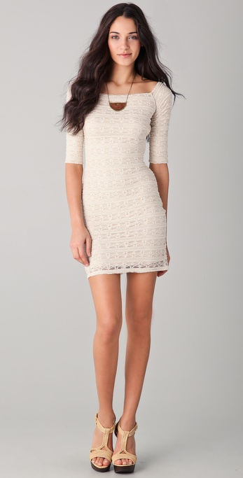 Torn by Ronny Kobo Eva Lace Mini Dress