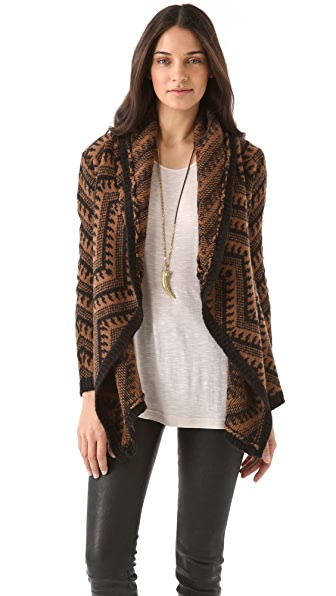 Torn by Ronny Kobo Sally Zigzag Cardigan