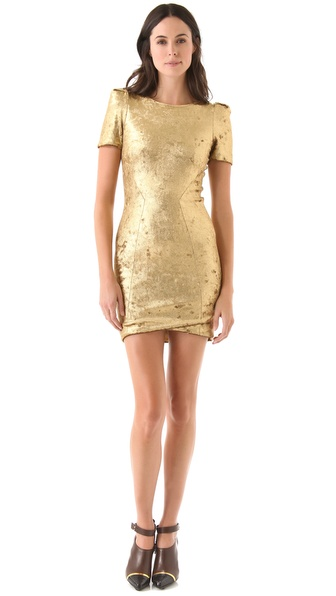 Torn by Ronny Kobo Mina Velvet Dress