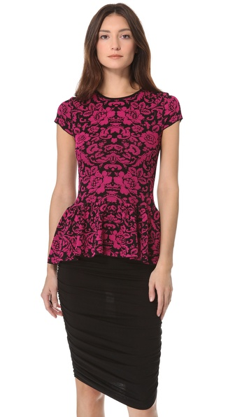 Torn by Ronny Kobo Vivienne Floral Peplum Top