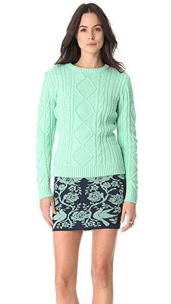 Torn by Ronny Kobo Kati Cable Knit Sweater