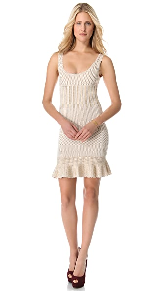 Torn by Ronny Kobo Ines Crocodile Knit Dress
