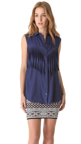 Torn by Ronny Kobo Lolita Fringe Shirt