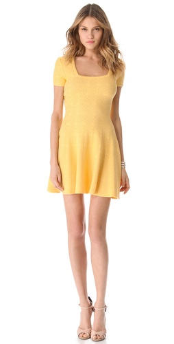 Torn by Ronny Kobo Pamela Blanket Stitch Dress