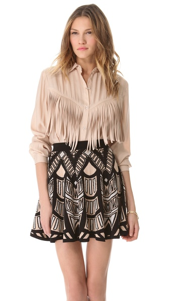 Torn by Ronny Kobo Lola Fringe Shirt