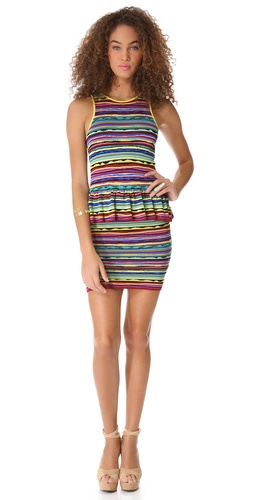 Torn by Ronny Kobo Solange Vintage Stripes Dress