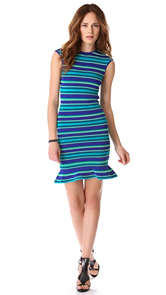 Torn by Ronny Kobo Paz Ottoman Stripes Dress
