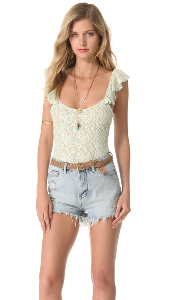 Torn by Ronny Kobo Felipa Lace Bodysuit