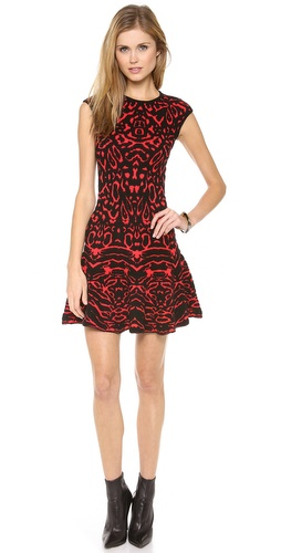Torn by Ronny Kobo Animal Jaquard Malu Dress