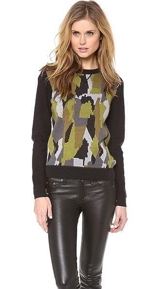 Torn by Ronny Kobo Kendra Camouflage Sweatshirt