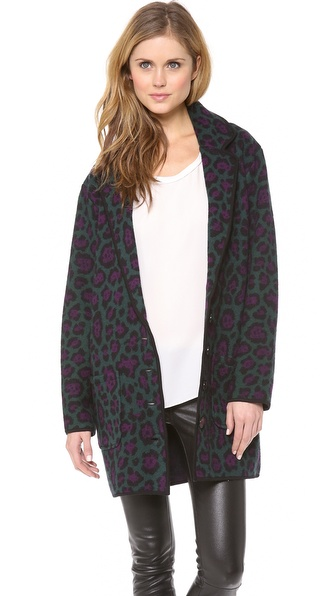 Torn by Ronny Kobo Eugenie Oversized Coat
