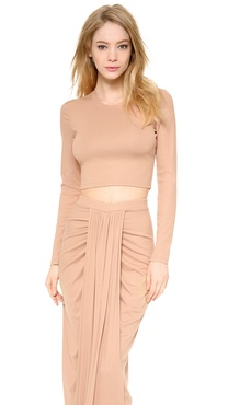 Torn by Ronny Kobo Oli Ribbed Crop Top