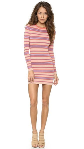 Torn by Ronny Kobo Malena Ottoman Stripes Dress