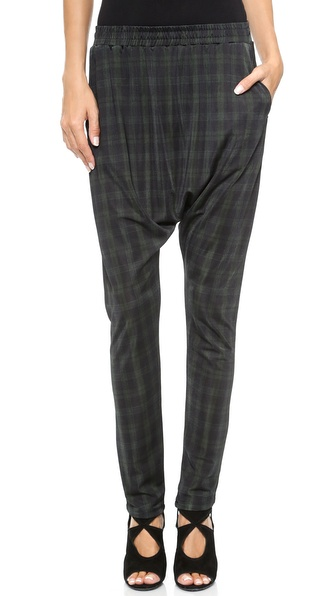 Torn by Ronny Kobo Aimme Autumn Plaid Harem Pants