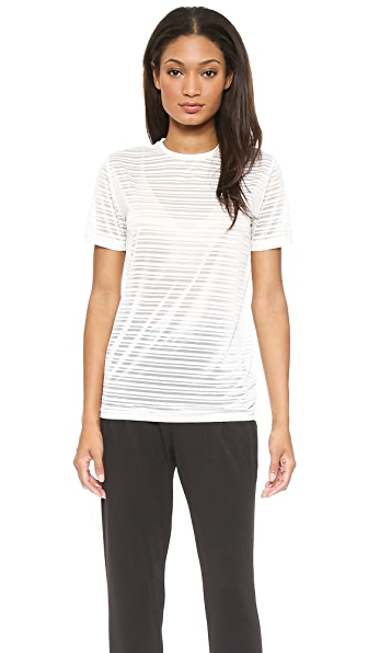 Torn By Ronny Kobo Kat Burnout Stripped Top - Ivory