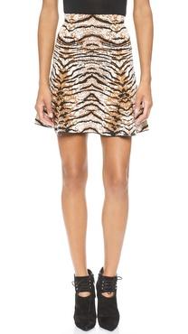 Torn by Ronny Kobo Karine Tiger Jacquard Skirt