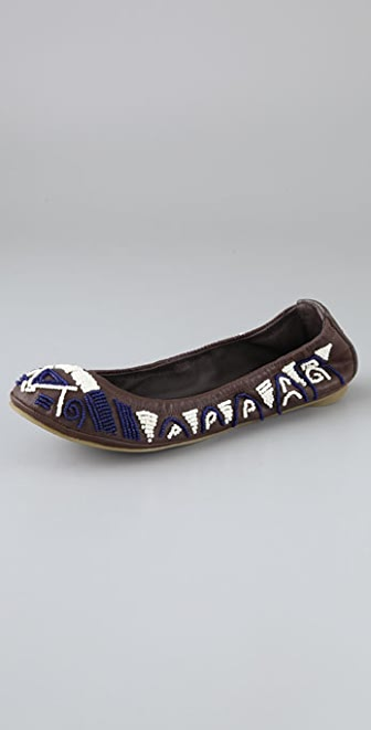 Tory Burch Eddie Beaded Ballet Flats