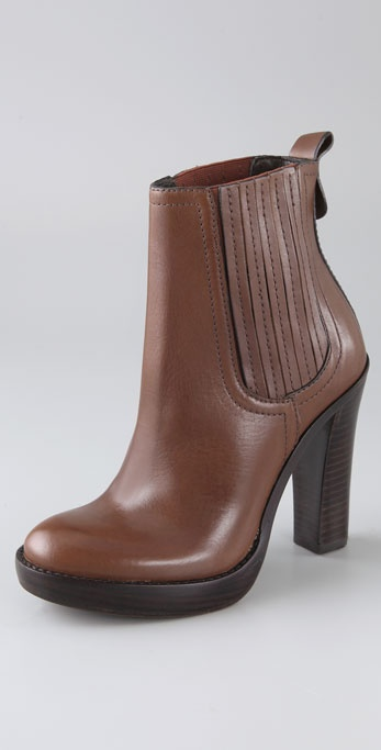 Tory Burch Troy Gored Platform Booties