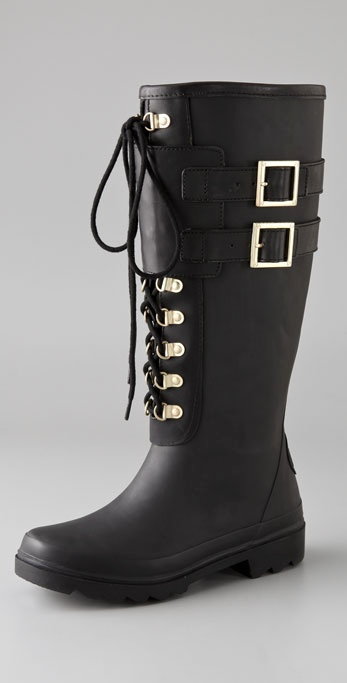 Tory Burch Buckle Rain Boots
