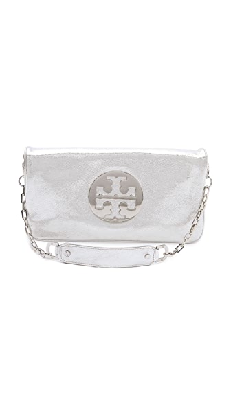 Tory Burch Metallic Reva Oversized Clutch