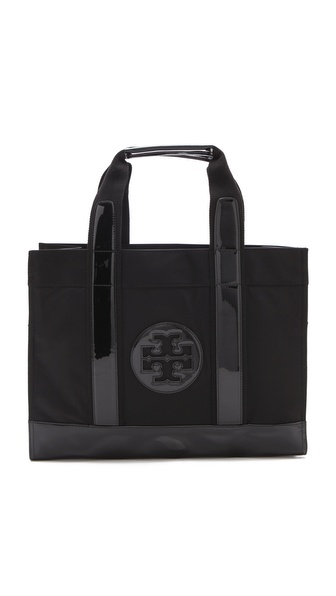 Tory Burch Nylon Tory Tote - Black/Black at Shopbop