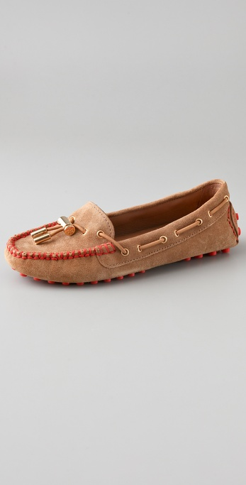 Tory Burch Hailey Split Suede Driver Flats