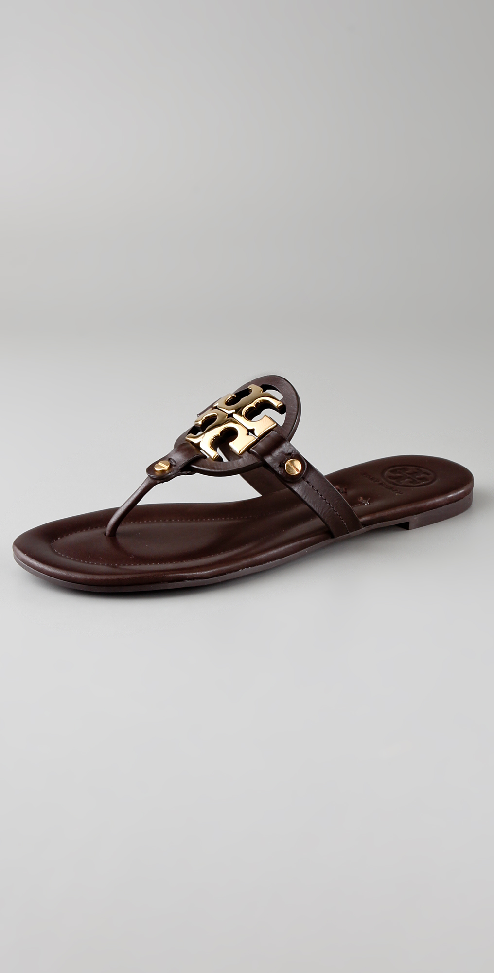 5fe8c2c09884 Tory Burch Miller Flat Thong Sandals on PopScreen