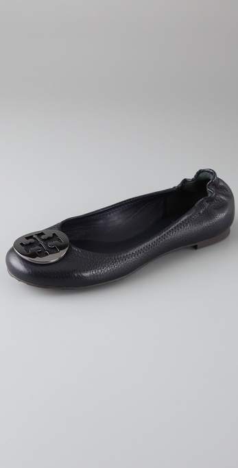 Tory Burch Reva Tumbled Leather Flats