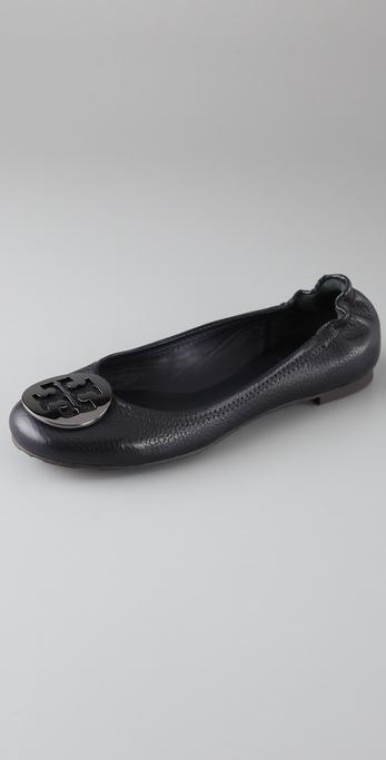 Tory Burch Reva Tumbled Leather Flats