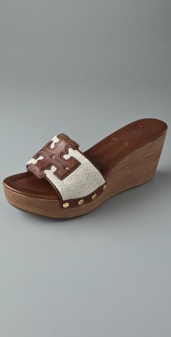 Tory Burch Terri Canvas Slide Sandals