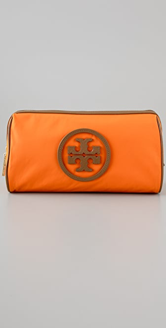 Tory Burch Stacked Logo Large Slouchy Cosmetic Case