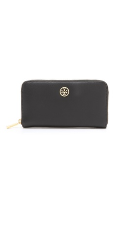 Tory Burch Logo Zip Continental Wallet at Shopbop / East Dane