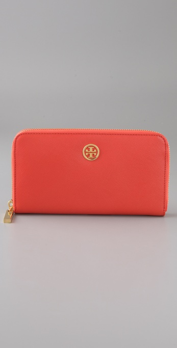 Tory Burch Saffiano Zip Continental Wallet