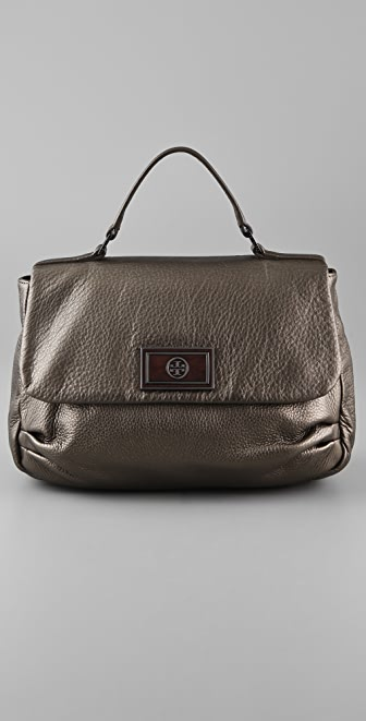 Tory Burch Metallic Tundra Frankie Satchel